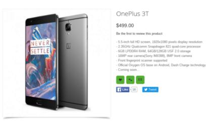 oneplus-3t-prix