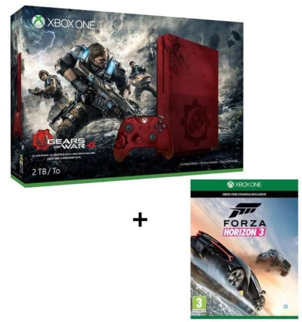 black week end cdiscount xbox one s 2 to gears of war 4 forza horizon 3 400. Black Bedroom Furniture Sets. Home Design Ideas