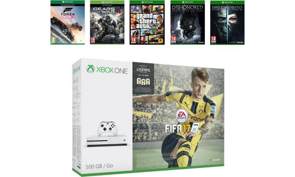 black friday cdiscount xbox one s 500 go 6 jeux 349. Black Bedroom Furniture Sets. Home Design Ideas