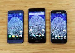 Honor 8 OnePlus 3 Galaxy S7 lecteur empreintes