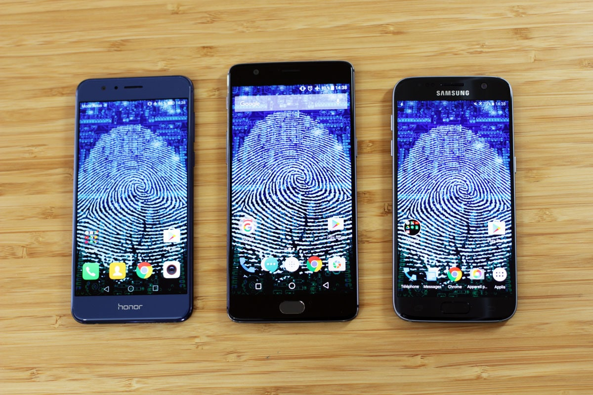 Honor 8 vs Galaxy S7 vs OnePlus 3 lequel a le meilleur lecteur d'empreintes