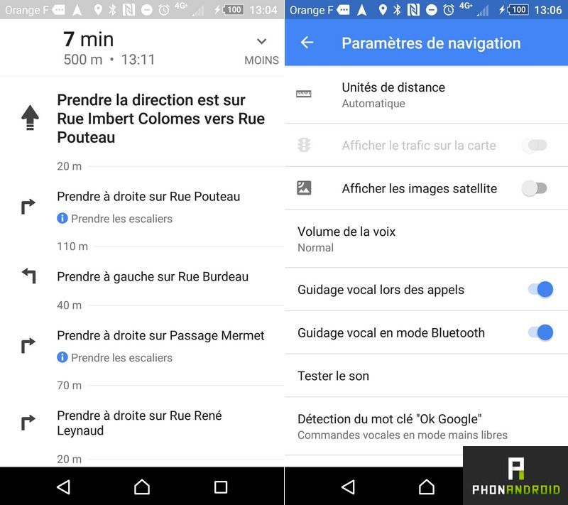 google maps nouvelle interface