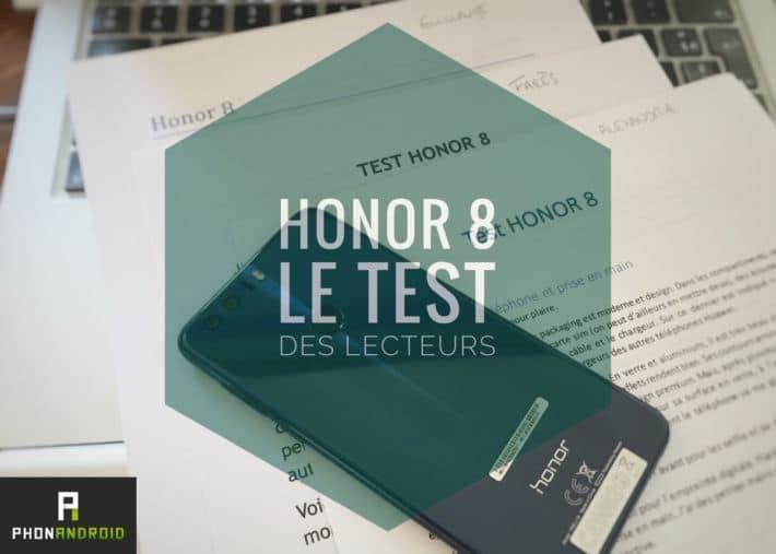 honor 8 test lecteurs