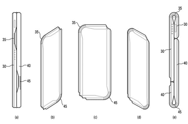 smartphone pliant brevet