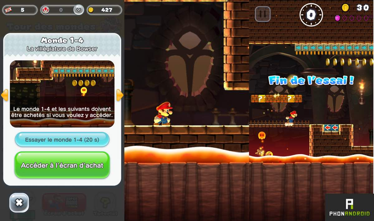 super mario run payant