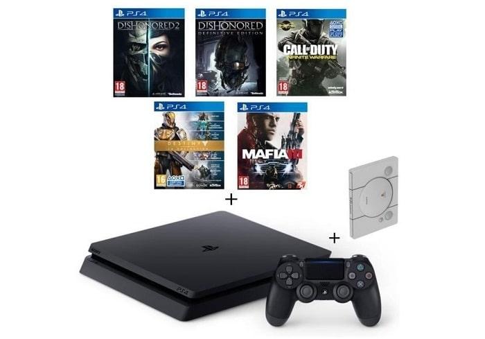 PS4 Slim Noire 500 go + 5 jeu Cdiscount soldes hiver 2017
