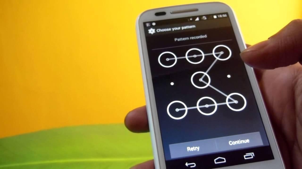 android schema deverrouillage