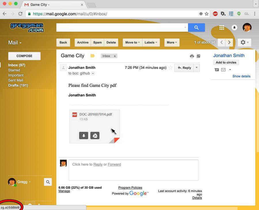 arnaque gmail