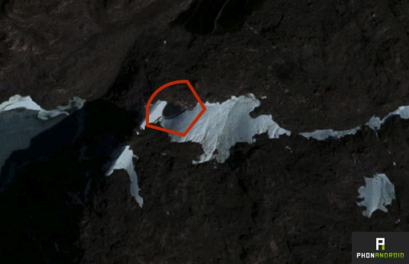 google earth soucoupe volante
