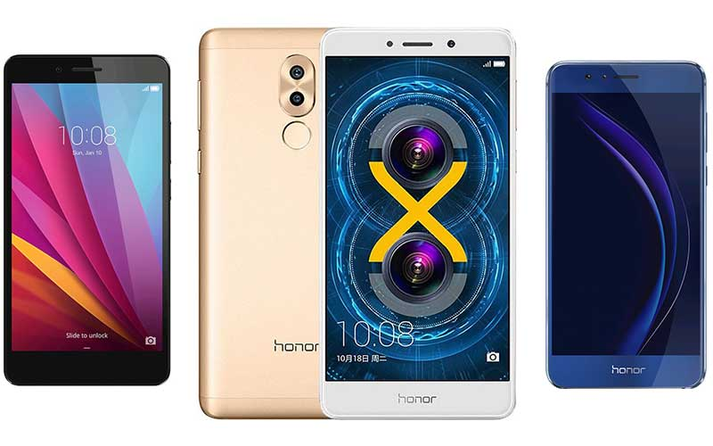 comparatif honor 6X 5X 8