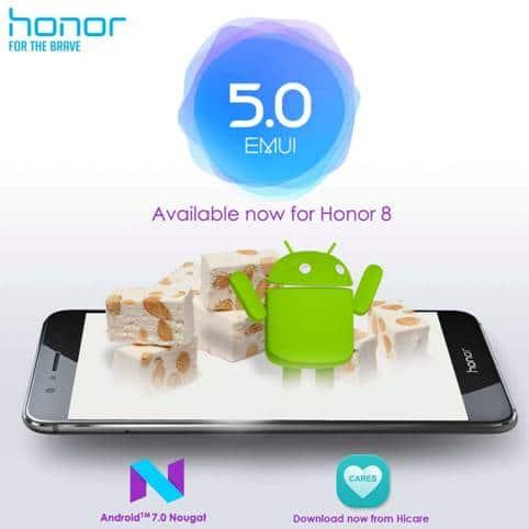 honor 8 nougat