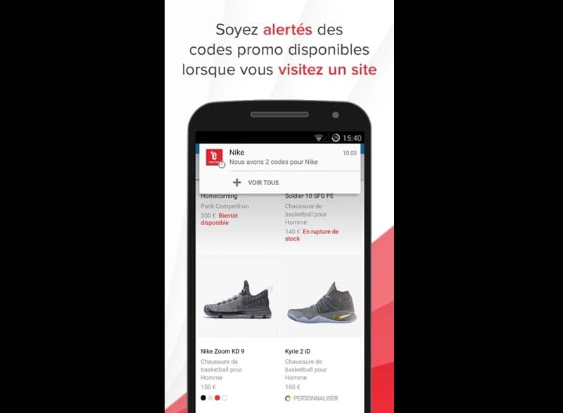 lexpress codes promo application android