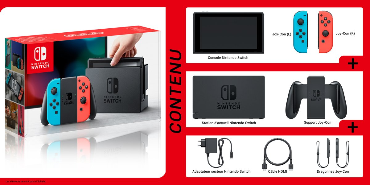 nintendo switch d couvrez le contenu de la bo te en images. Black Bedroom Furniture Sets. Home Design Ideas