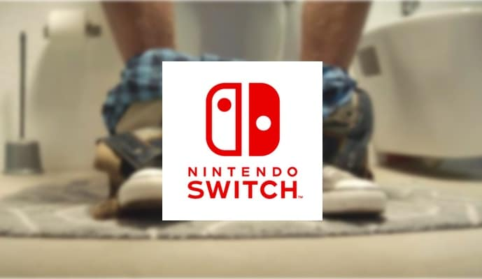 nintendo switch toilettes