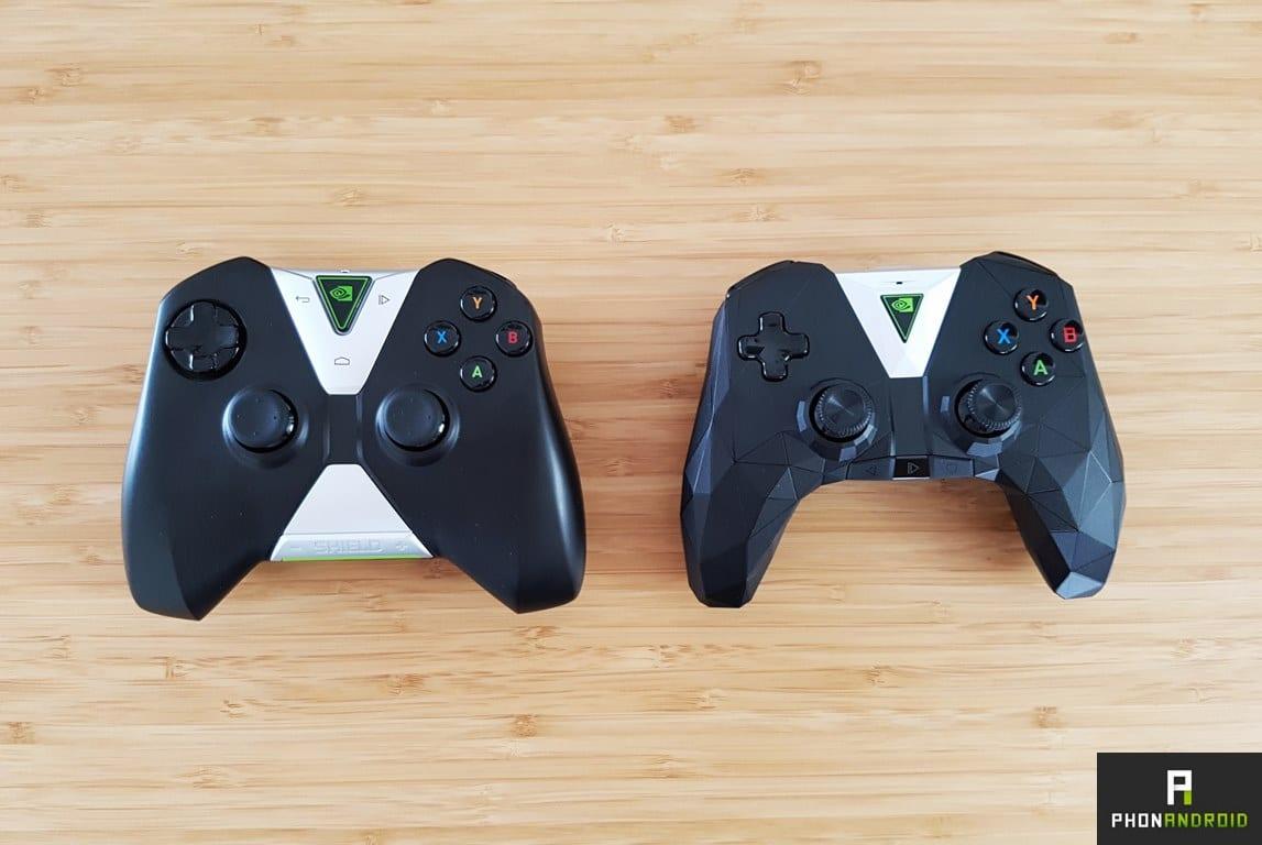 nvidia shield tv 2017 comparatif manette jeu