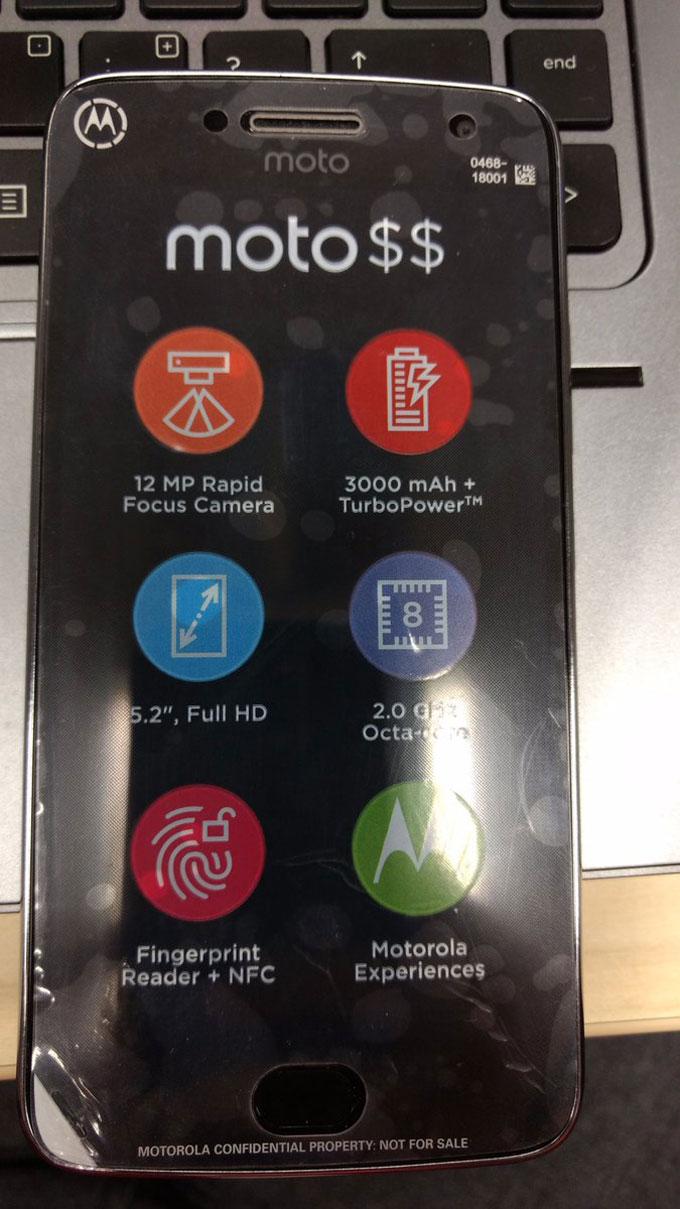 Lenovo Moto G5 Plus photo leak