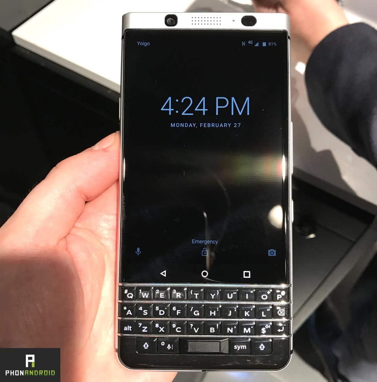 blackberry keyone clavier