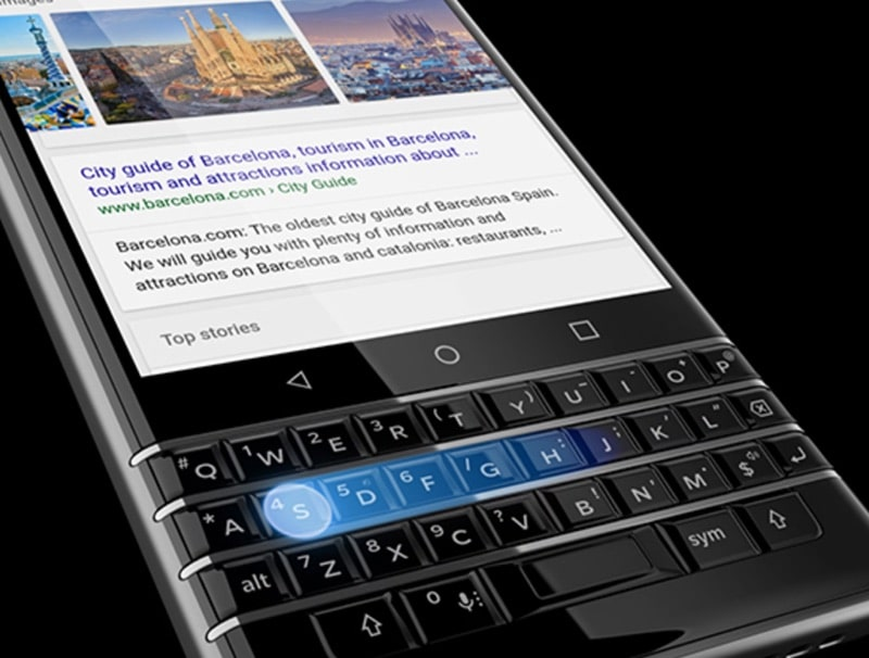 blackberry keyone clavier physique