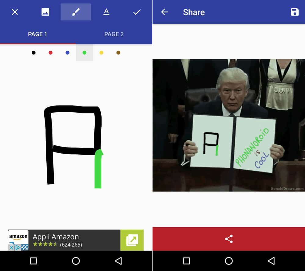 donald draws application android