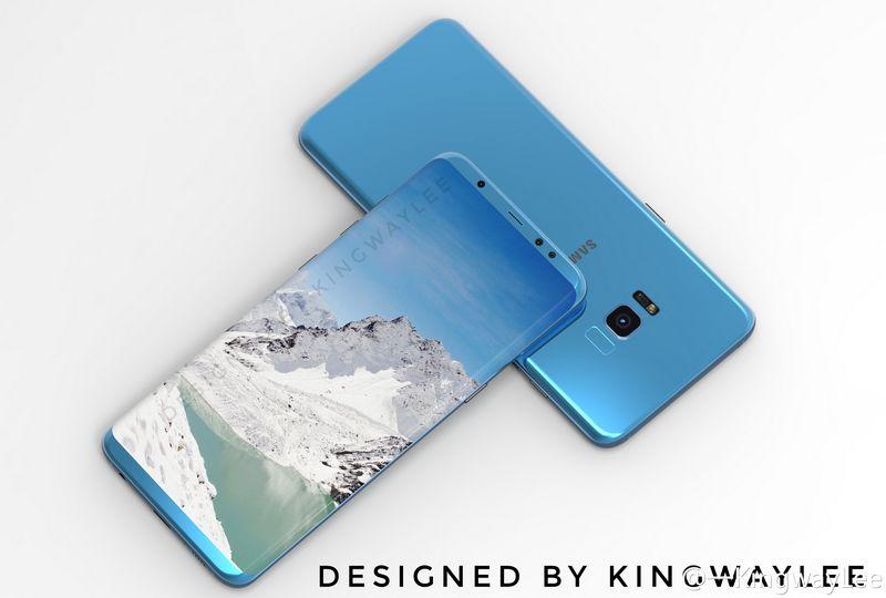 coque samsung s8 bleu