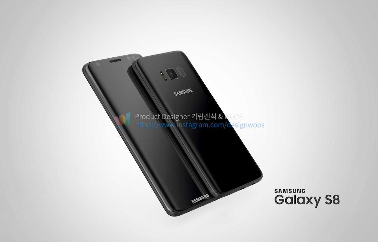 Galaxy S8 : de nouveaux rendus présentent son design borderless sous ...