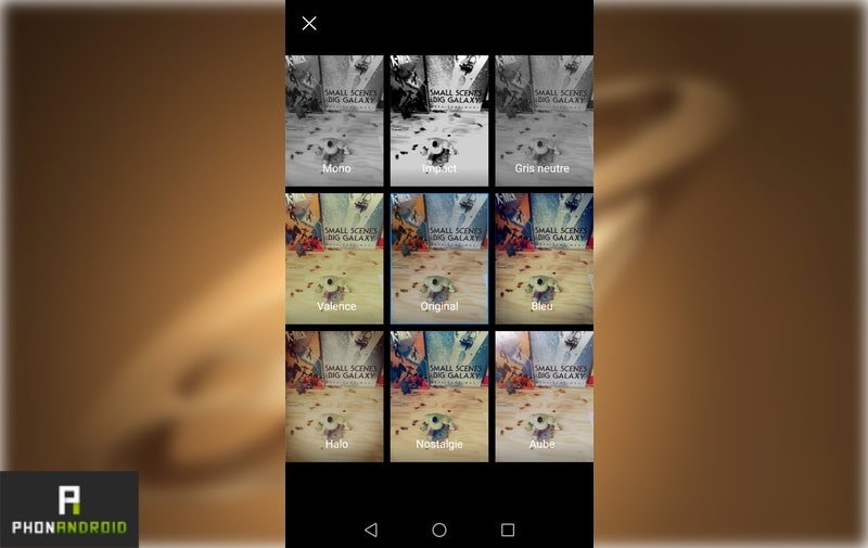honor8 filtres photo