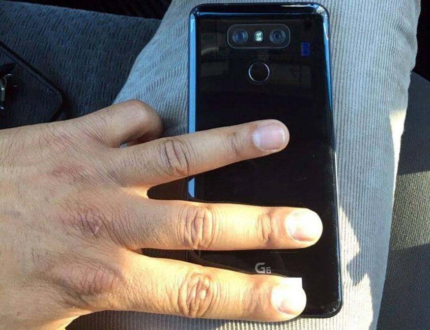 lg g6 photo coque noire
