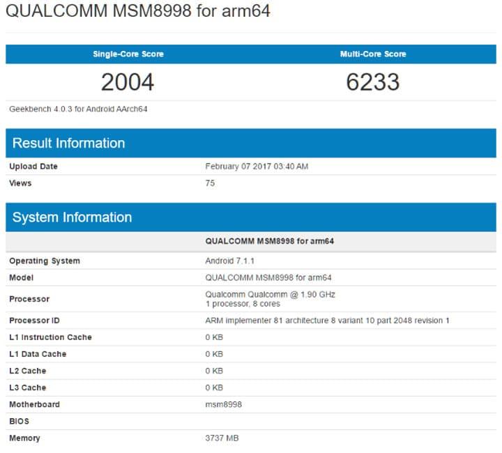 qualcomm snapdragon 835 benchmark