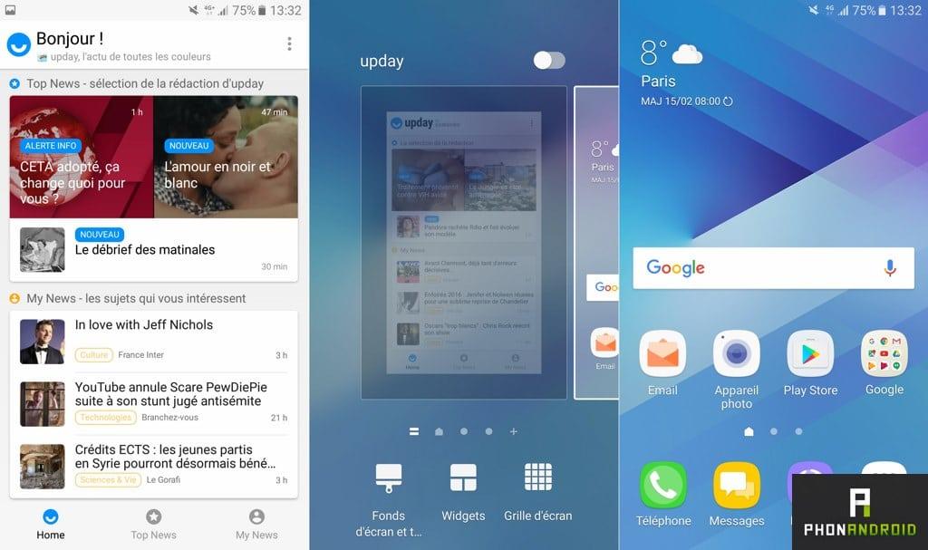 samsung galaxy a5 2017 interface touchwiz