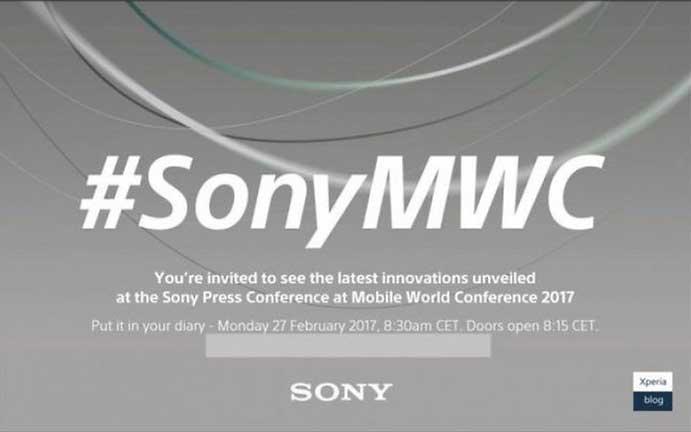 Conférence Sony MWC 2017