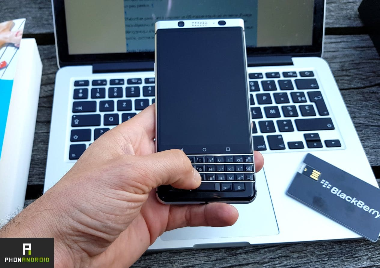 test blackberry keyone clavier