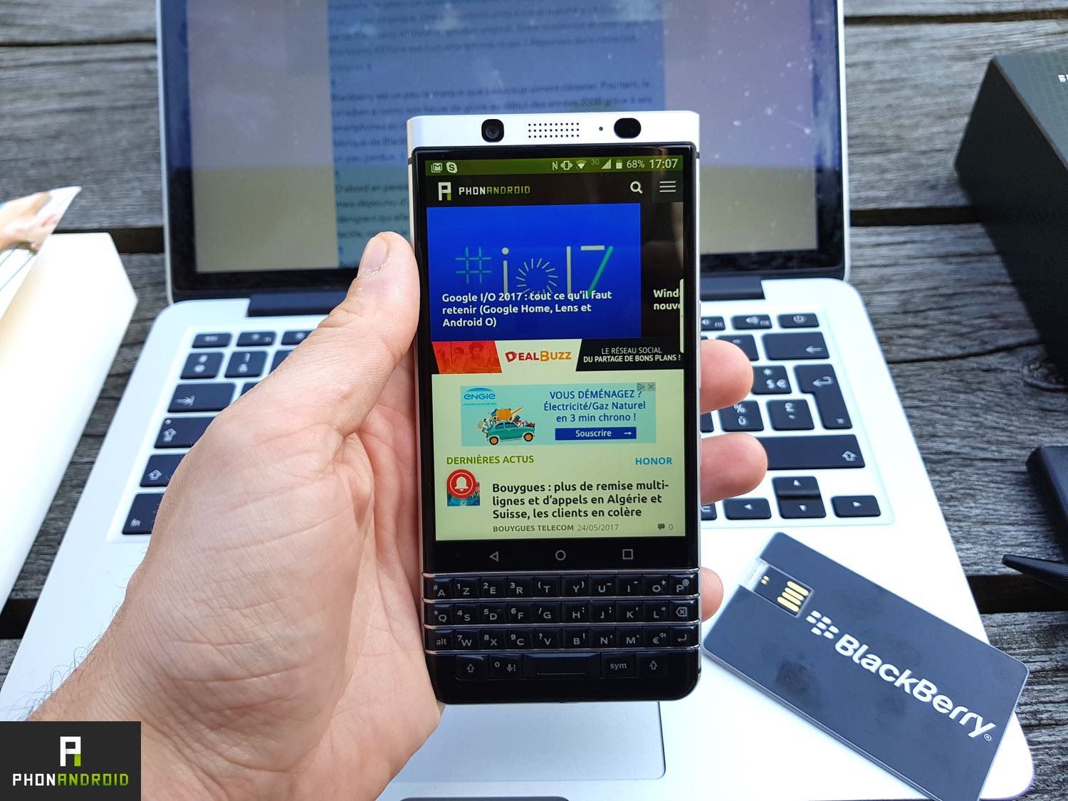 test blackberry keyone ecran