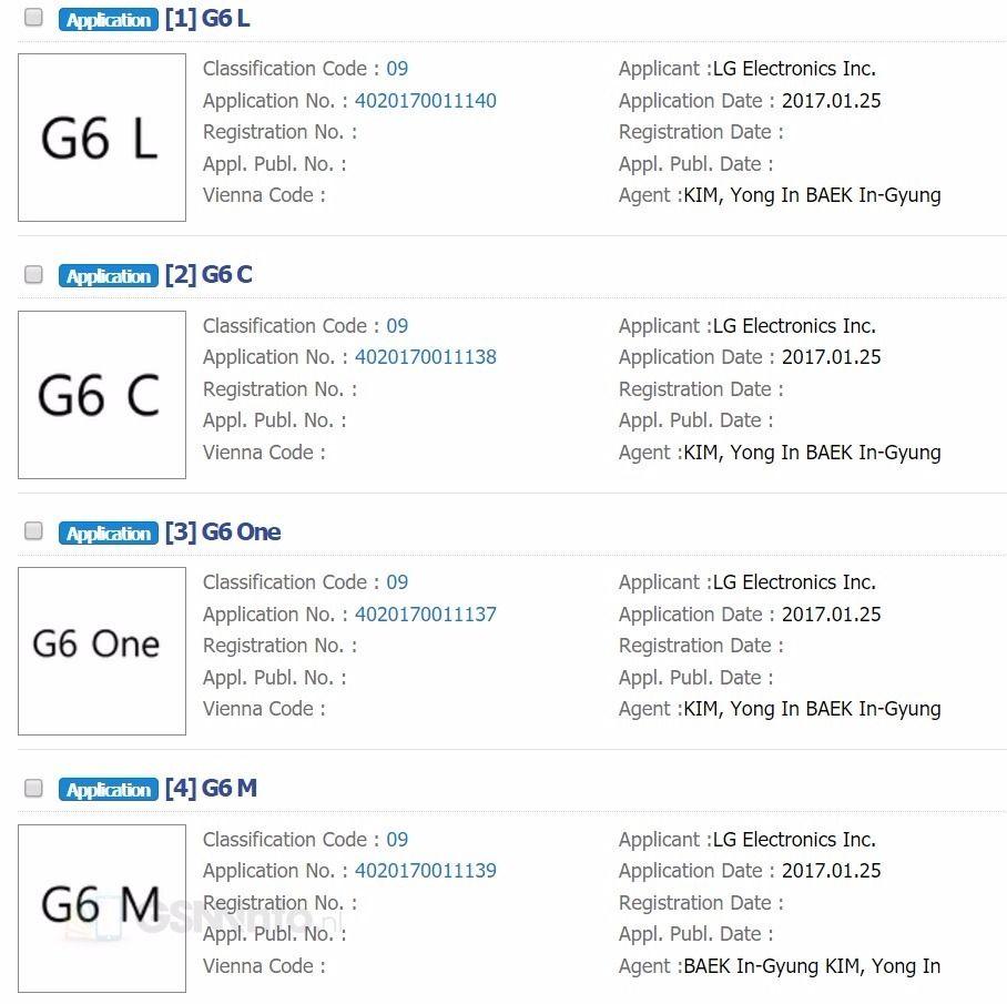 variantes lg g6