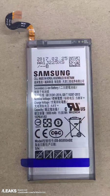galaxy s8 batterie photo