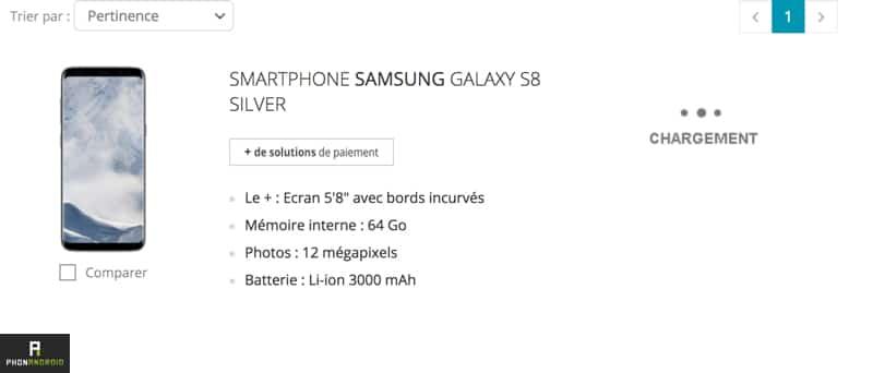 Galaxy S8 Boulanger