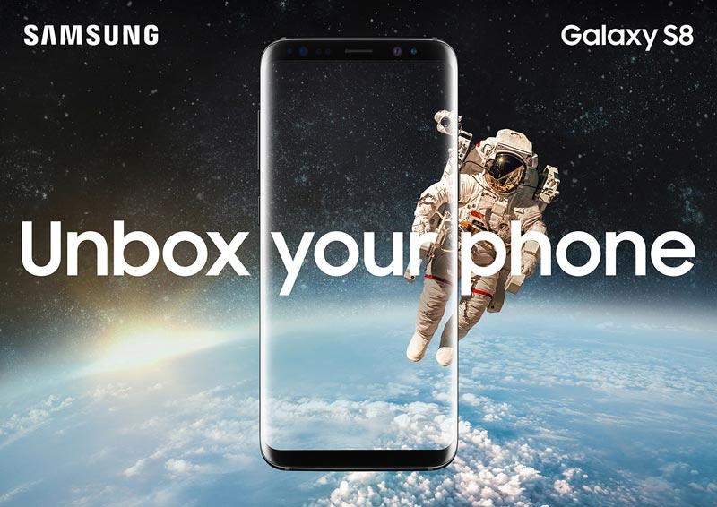Galaxy S8 écran design