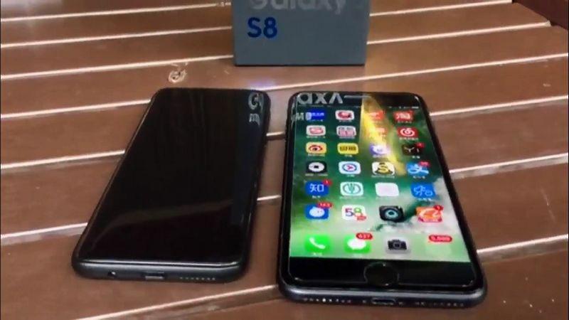 galaxy s8 iphone 7 plus video
