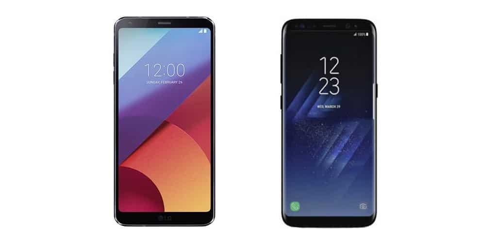 galaxy s8 vs lg g6 design
