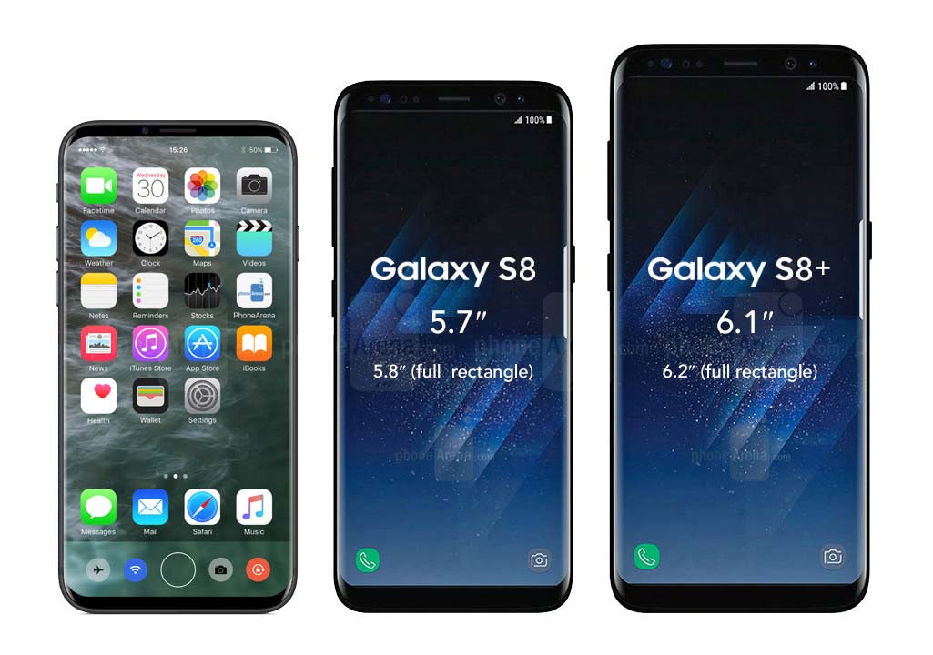 iPhone 8 Galaxy S8