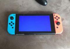 nintendo switch ecran bleu