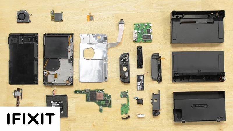 nintendo switch démontage