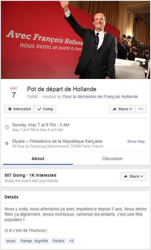 pot depart hollande facebook