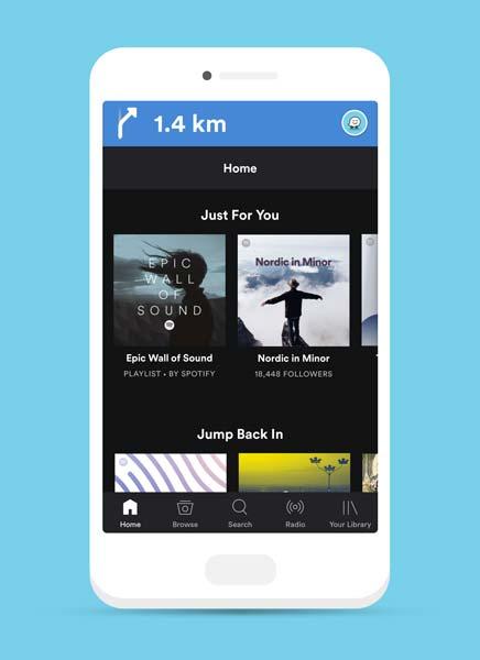 Spotify et Waze