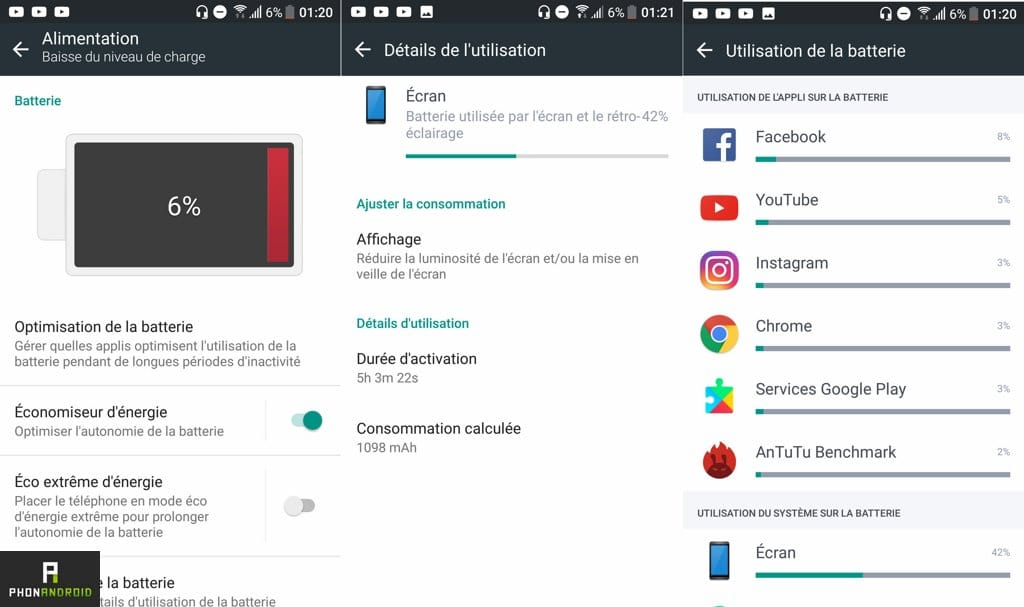 test htc u ultra autonomie batterie