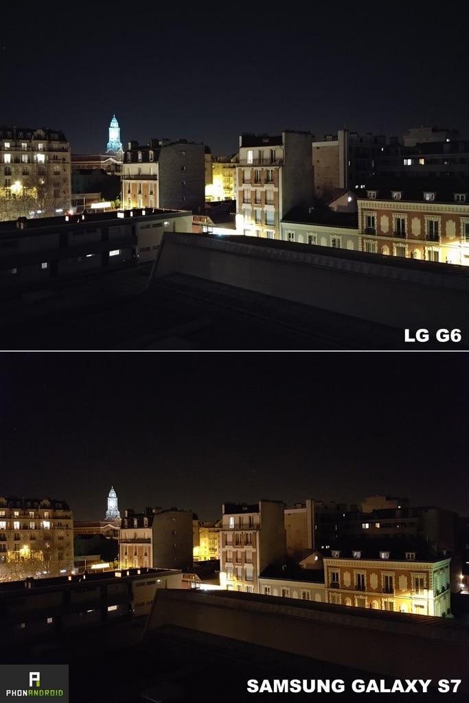 test lg g6 photo nuit galaxy s7