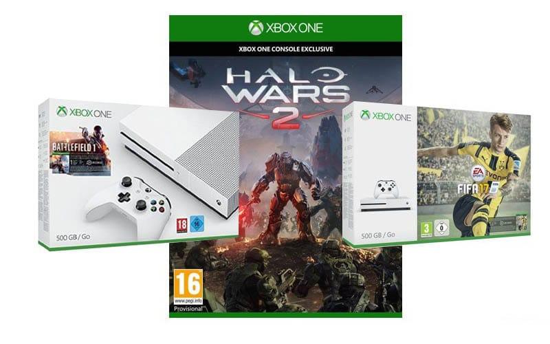 xbox one s packs halo wars 2 battlefield fifa 17 console 290e