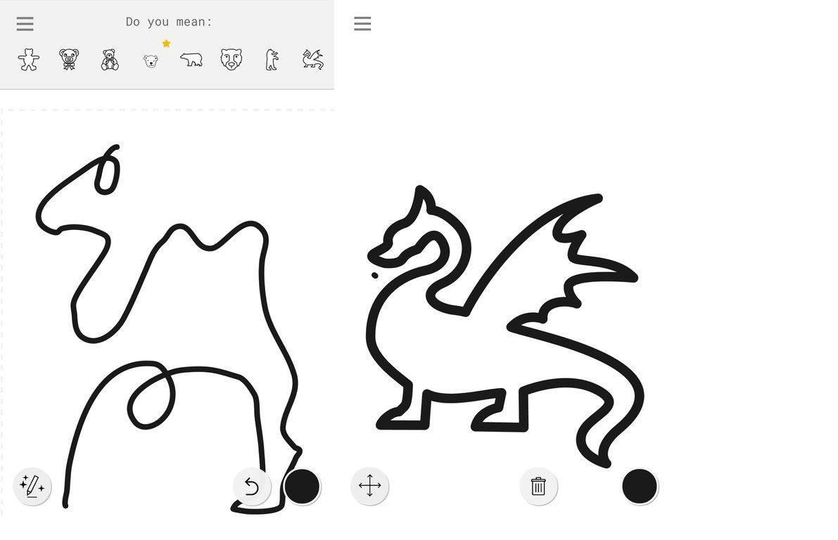 autodraw ai google gribouillages dessins