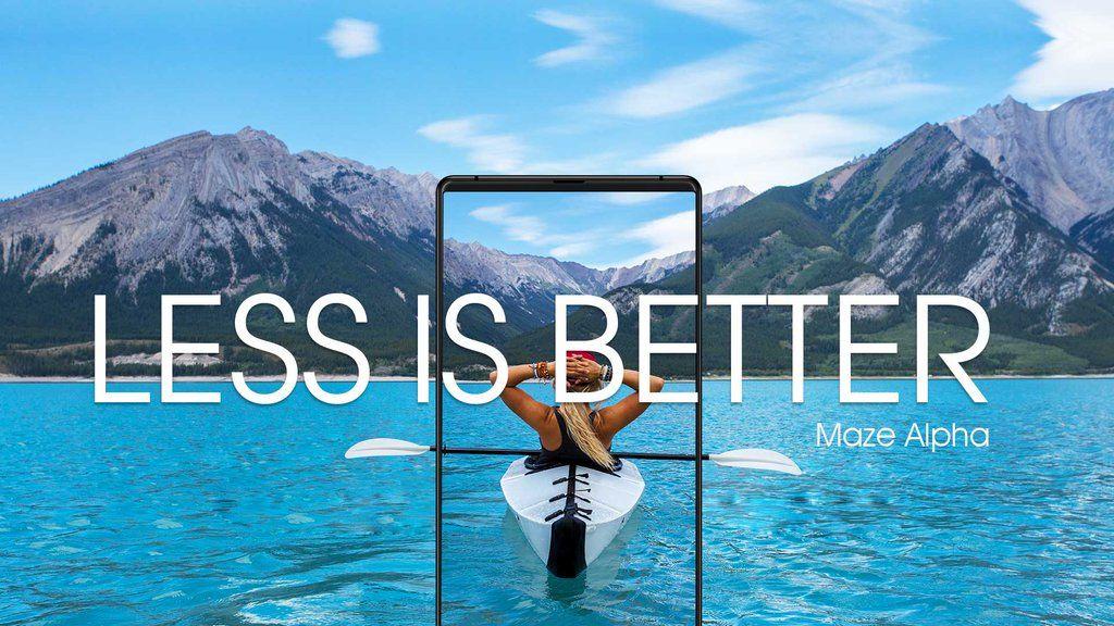 Maze Alpha : le nouveau smartphone chinois borderless