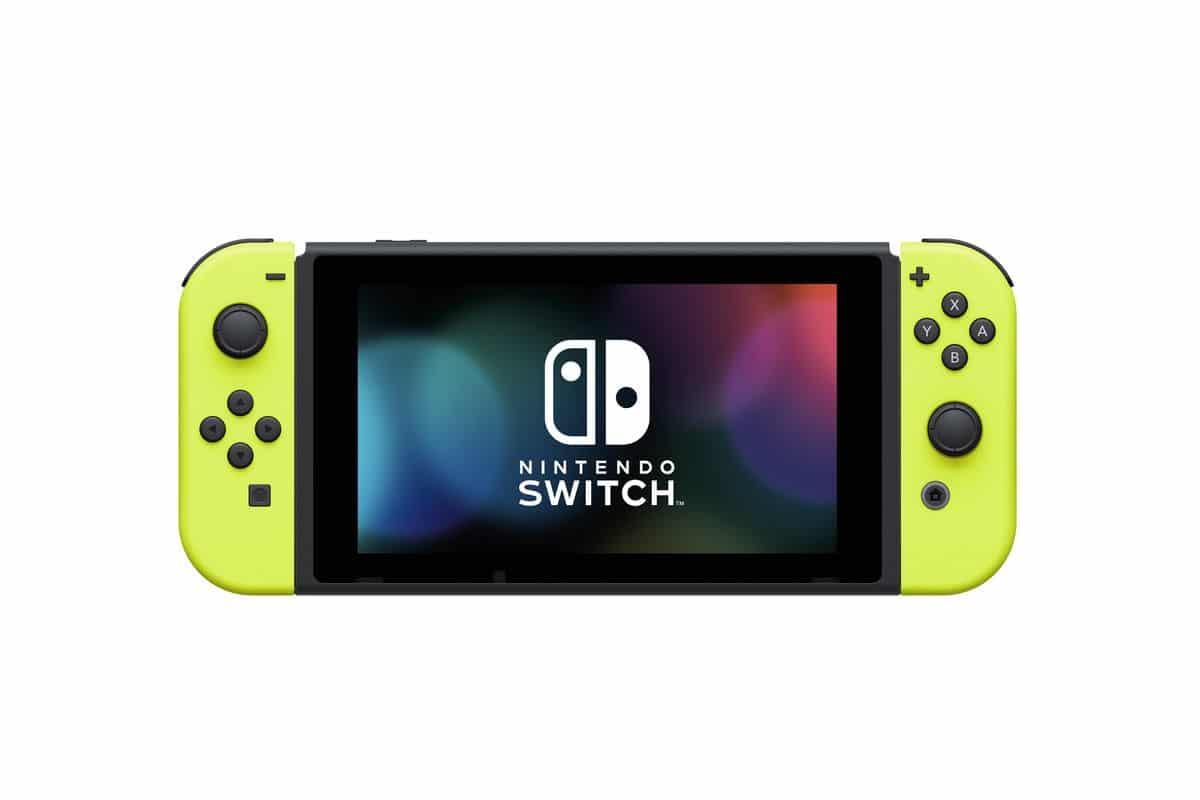 nintendo switch jaune neon batterie externe
