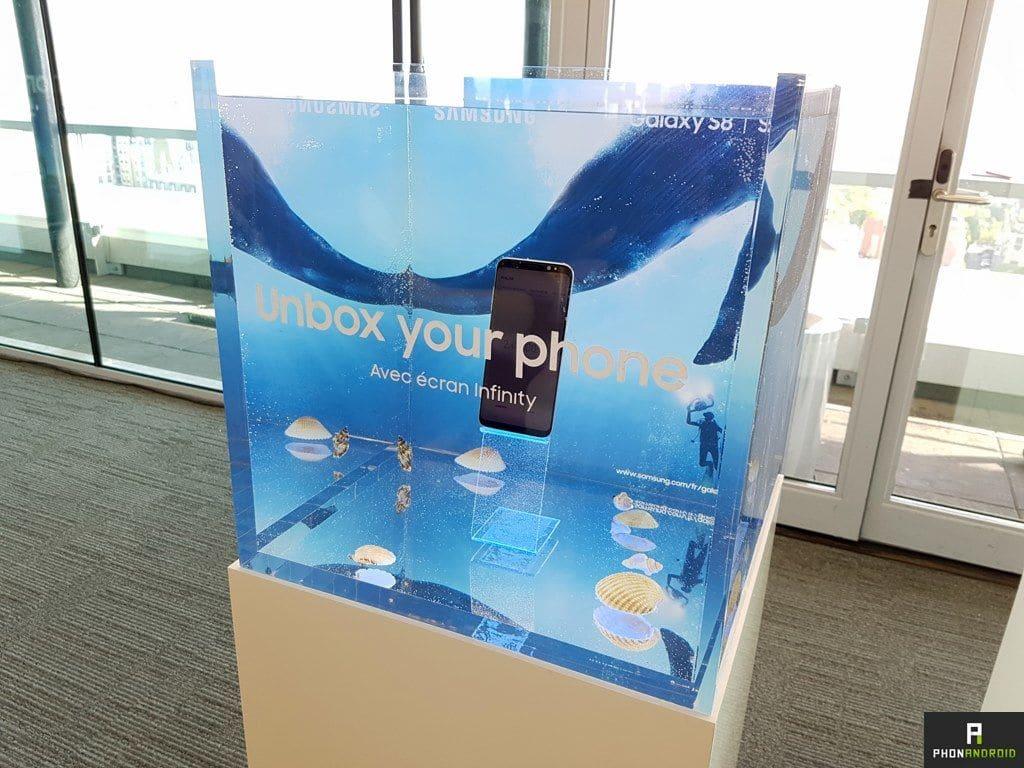 Galaxy S8+ résiste soda congélateur